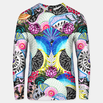 Thumbnail image of Whimsical abstract hand paint design  Unisex sweater, Live Heroes