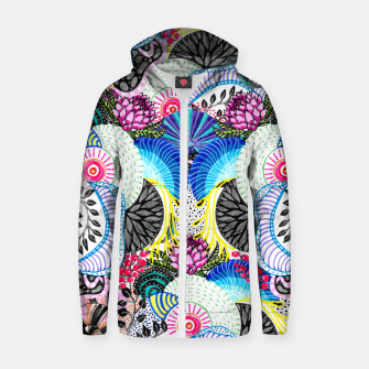 Thumbnail image of Whimsical abstract hand paint design  Zip up hoodie, Live Heroes