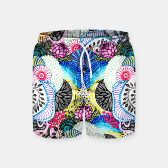 Miniatur Whimsical abstract hand paint design  Swim Shorts, Live Heroes
