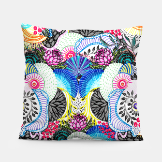 Thumbnail image of Whimsical abstract hand paint design  Pillow, Live Heroes