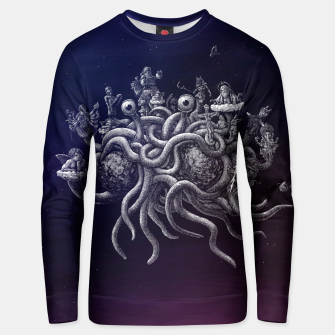 Thumbnail image of CREDO, QUIA ABSURDUM EST (the flying spaghetti monster) Unisex sweater, Live Heroes