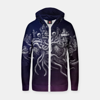 Thumbnail image of CREDO, QUIA ABSURDUM EST (the flying spaghetti monster) Zip up hoodie, Live Heroes
