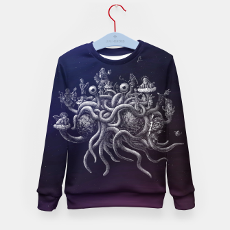 Thumbnail image of CREDO, QUIA ABSURDUM EST (the flying spaghetti monster) Kid's sweater, Live Heroes