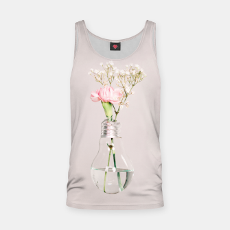 Flowers in a light bulb Tank Top thumbnail image