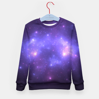 Thumbnail image of Take me back to the stars Abstract Fractal Art Design Kid's sweater, Live Heroes