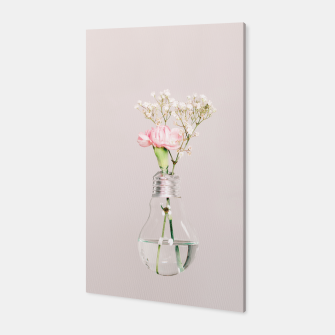 Flowers in a light bulb Canvas thumbnail image