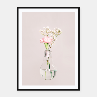 Flowers in a light bulb Plakaty w ramie  thumbnail image