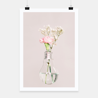 Flowers in a light bulb Plakat thumbnail image