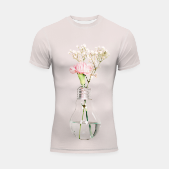 Flowers in a light bulb Rashguard krótki rękaw thumbnail image
