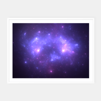 Thumbnail image of Take me back to the stars Abstract Fractal Art Design Framed poster, Live Heroes