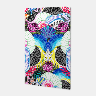 Thumbnail image of Whimsical abstract hand paint design  Canvas, Live Heroes