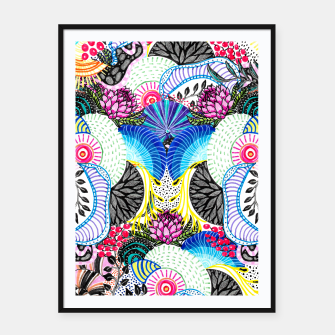 Thumbnail image of Whimsical abstract hand paint design  Framed poster, Live Heroes