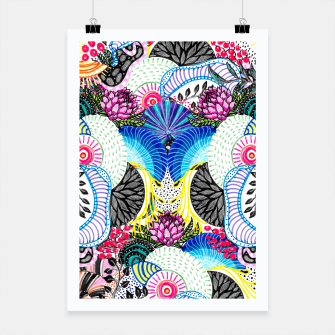 Miniatur Whimsical abstract hand paint design  Poster, Live Heroes