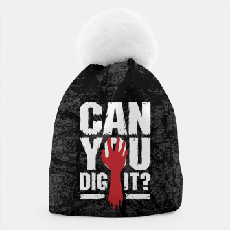 Thumbnail image of Can You Dig It? Funny Zombie Halloween Beanie, Live Heroes