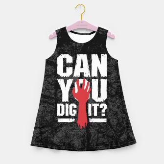 Thumbnail image of Can You Dig It? Funny Zombie Halloween Girl's summer dress, Live Heroes