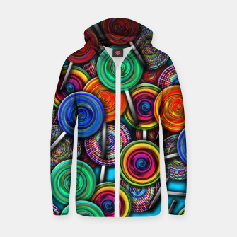 Thumbnail image of Colorful Lollipops Zip up hoodie, Live Heroes