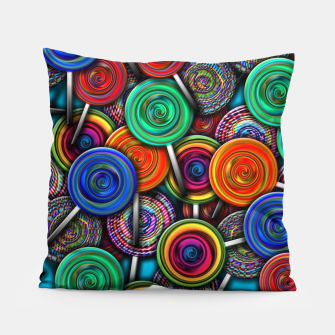 Thumbnail image of Colorful Lollipops Pillow, Live Heroes