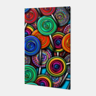 Thumbnail image of Colorful Lollipops Canvas, Live Heroes
