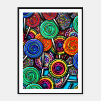 Thumbnail image of Colorful Lollipops Framed poster, Live Heroes