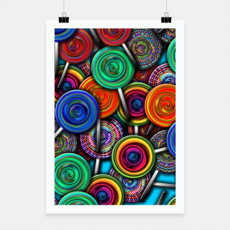 Thumbnail image of Colorful Lollipops Poster, Live Heroes