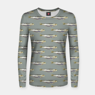 Thumbnail image of Anchovies Group Print Pattern Women sweater, Live Heroes