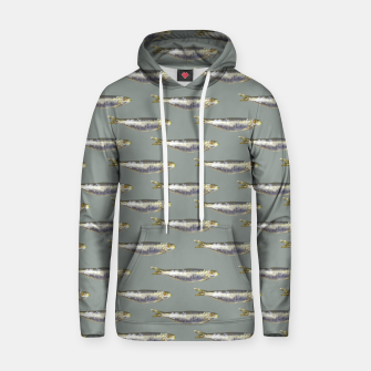 Thumbnail image of Anchovies Group Print Pattern Hoodie, Live Heroes
