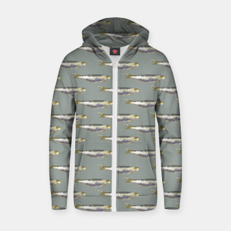 Thumbnail image of Anchovies Group Print Pattern Zip up hoodie, Live Heroes