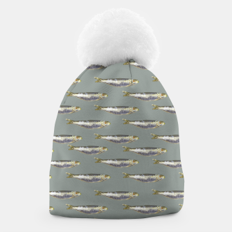 Thumbnail image of Anchovies Group Print Pattern Beanie, Live Heroes