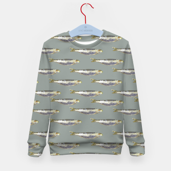Thumbnail image of Anchovies Group Print Pattern Kid's sweater, Live Heroes