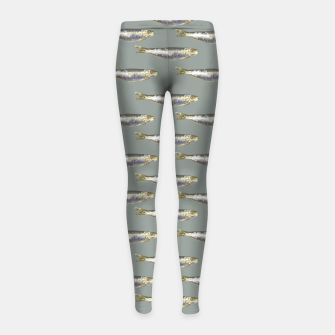 Thumbnail image of Anchovies Group Print Pattern Girl's leggings, Live Heroes