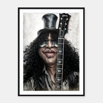 Thumbnail image of Slash Framed poster, Live Heroes