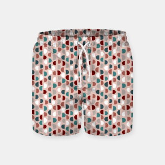 Thumbnail image of Half Circle, Red  Swim Shorts, Live Heroes