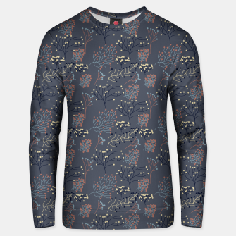 Miniaturka Blue and Earth tone Branches Unisex sweater, Live Heroes