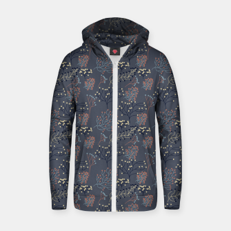Miniaturka Blue and Earth tone Branches Zip up hoodie, Live Heroes