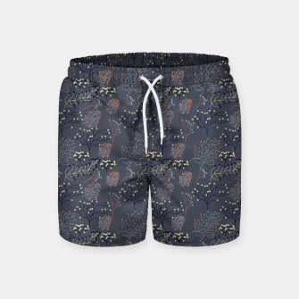 Miniaturka Blue and Earth tone Branches Swim Shorts, Live Heroes