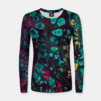 Thumbnail image of Crunchberries - Teal & Pink Abstract Women sweater, Live Heroes