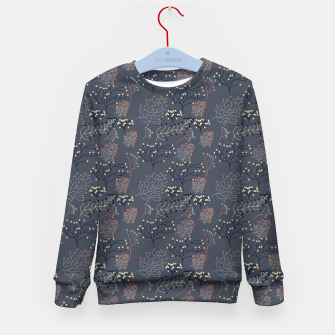 Miniaturka Blue and Earth tone Branches Kid's sweater, Live Heroes