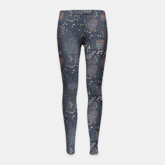 Miniaturka Blue and Earth tone Branches Girl's leggings, Live Heroes