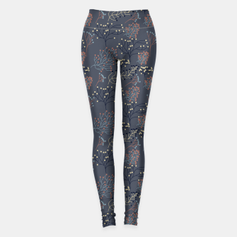 Miniaturka Blue and Earth tone Branches Leggings, Live Heroes