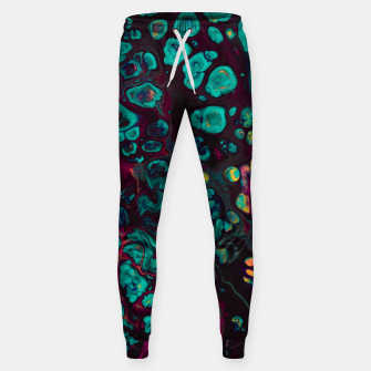 Thumbnail image of Crunchberries - Teal & Pink Abstract Sweatpants, Live Heroes