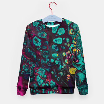 Thumbnail image of Crunchberries - Teal & Pink Abstract Kid's sweater, Live Heroes