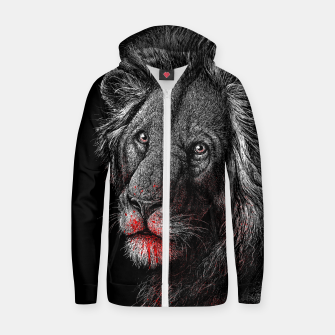 Thumbnail image of PREDATOR (lion) Zip up hoodie, Live Heroes