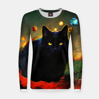 Thumbnail image of cat Women sweater, Live Heroes