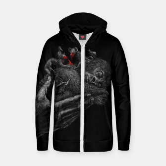 Thumbnail image of GORILLABABY Zip up hoodie, Live Heroes