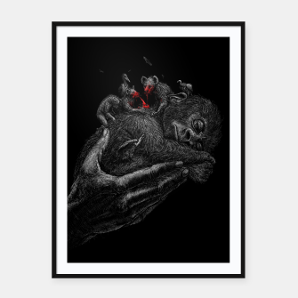Thumbnail image of GORILLABABY Framed poster, Live Heroes