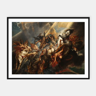 Thumbnail image of The Fall of Phaeton Framed poster, Live Heroes