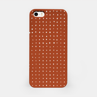 Thumbnail image of Light grey dots on rust iPhone Case, Live Heroes