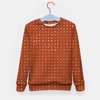 Thumbnail image of Light grey dots on rust Kid's sweater, Live Heroes