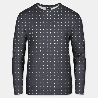 Thumbnail image of Light grey dots on grey Unisex sweater, Live Heroes