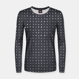 Thumbnail image of Light grey dots on grey Women sweater, Live Heroes
